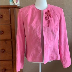 Beautiful pink faux suede jacket